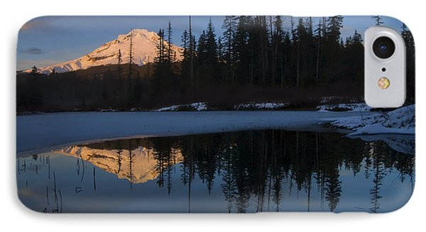 Hood Alpenglow Phone Case by Mike  Dawson