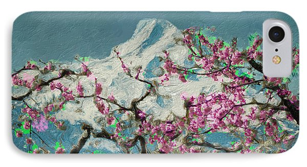 IPhone Case featuring the digital art Hood Blossoms by Dale Stillman
