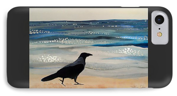 Hooded Crow At The Black Sea By Dora Hathazi Mendes IPhone Case by Dora Hathazi Mendes