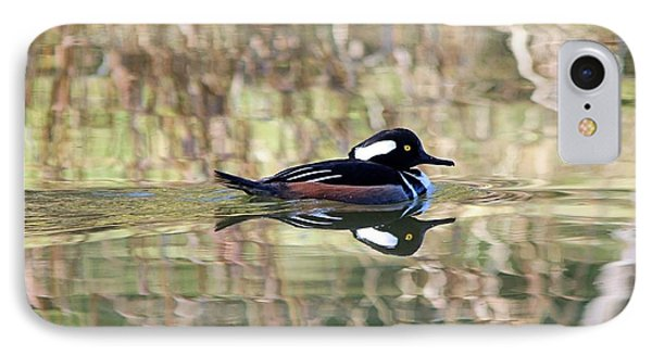 IPhone Case featuring the photograph Hooded Merganser by Elizabeth Budd