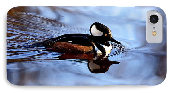 IPhone Case featuring the photograph Hooded Merganser In Stanley Park by Terry Elniski