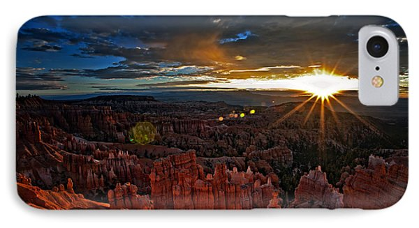 Hoodoos At Sunrise Bryce Canyon National Park IPhone Case by Sam Antonio