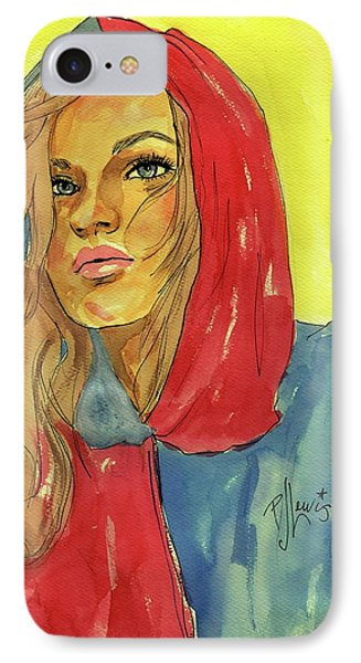 IPhone Case featuring the painting Hoody by P J Lewis