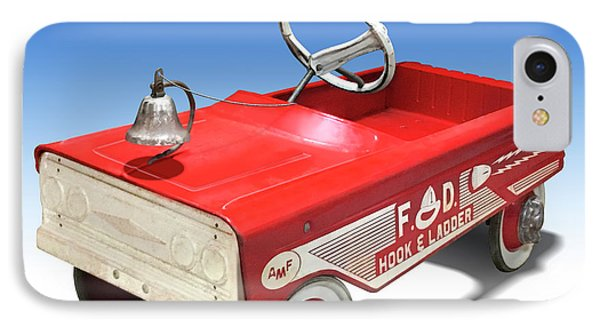 IPhone Case featuring the photograph Hook And Ladder Peddle Car by Mike McGlothlen