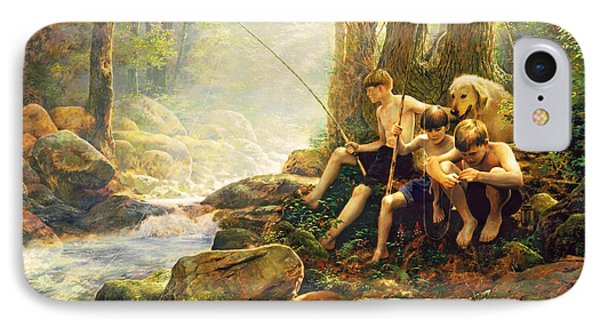 Hook Line And Summer IPhone Case by Greg Olsen