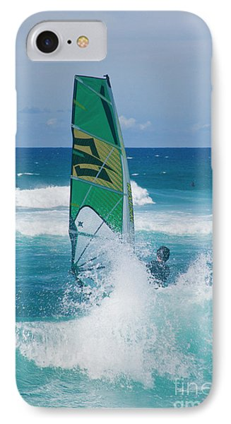 IPhone Case featuring the photograph Hookipa Windsurfing North Shore Maui Hawaii by Sharon Mau