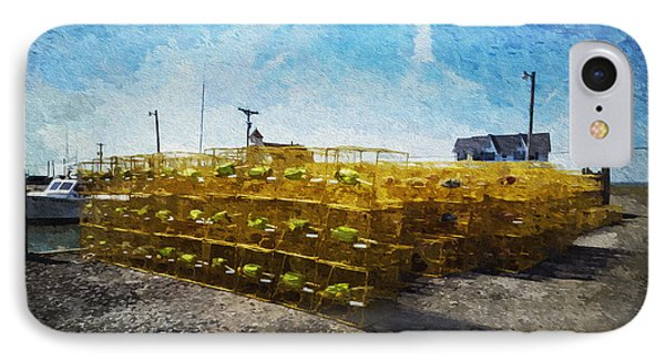 Hooper's Island Crab Pots IPhone Case by Brian Wallace