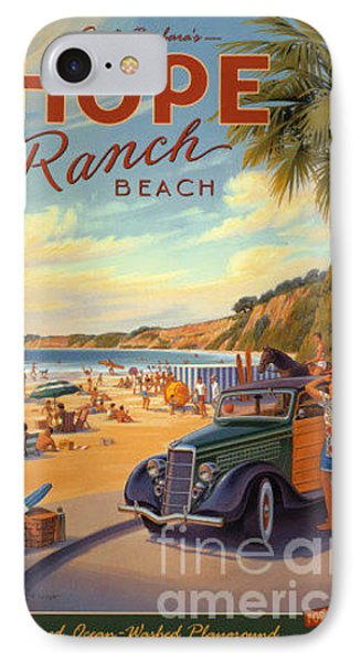 Hope Ranch Beach IPhone Case by Nostalgic Prints