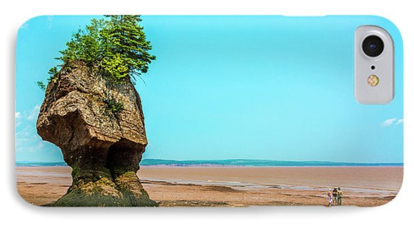 Hopewell Rocks In New Brunswick -  Canada IPhone Case by Ken Morris
