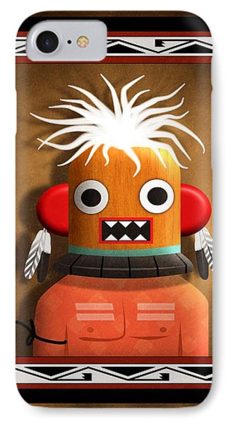 Hopi Indian Kachina IPhone Case by John Wills