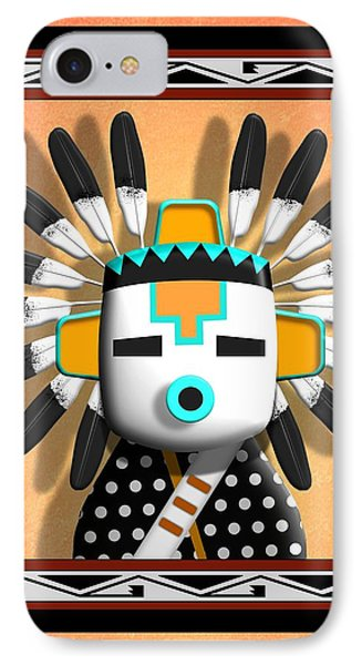 Hopi Kachina Mask IPhone Case by John Wills