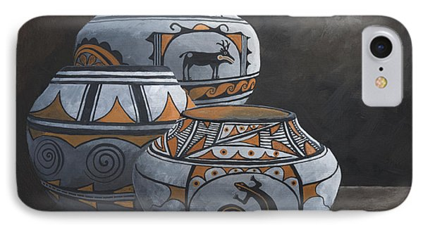 Hopi Pots Phone Case by Jerry McElroy