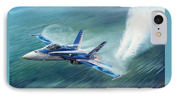 'hornet 20th Anniversary Over Myall Lake Nsw' IPhone Case by Colin Parker