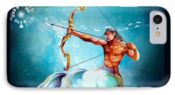Horoscope Signs-sagittarius IPhone Case by Bedros Awak