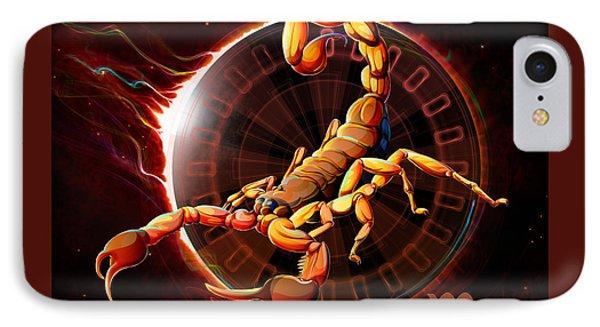 Horoscope Signs-scorpio IPhone Case by Bedros Awak