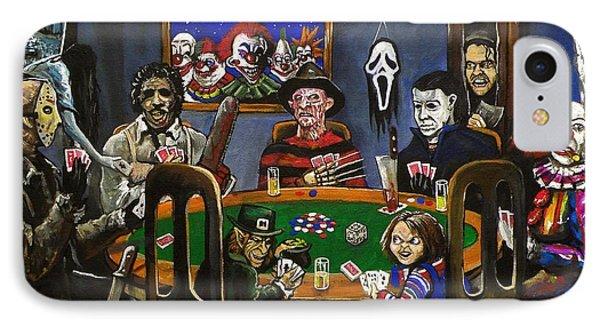 Horror Card Game Phone Case by Tom Carlton