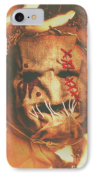 Horror Scarecrow Portrait IPhone Case by Jorgo Photography - Wall Art Gallery