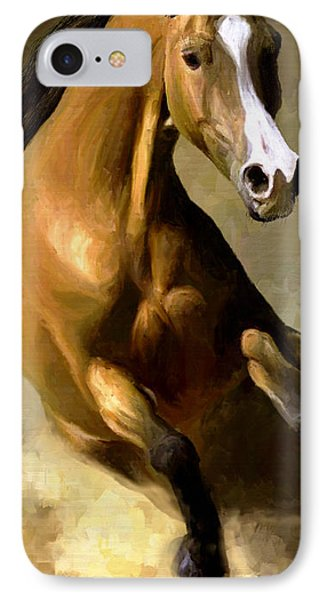 IPhone Case featuring the painting Horse Agility by James Shepherd