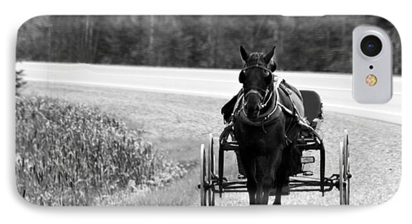 IPhone Case featuring the photograph Horse And Buggy by Marjorie Imbeau