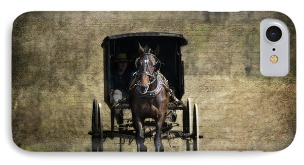 Horse And Buggy IPhone Case by Tom Mc Nemar