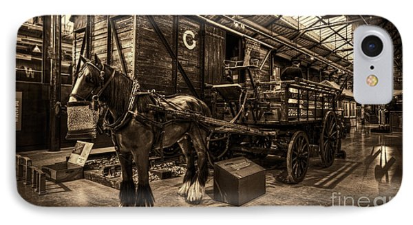 Horse And Cart Loading Train IPhone Case by Clare Bambers