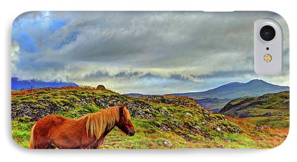 IPhone Case featuring the photograph Horse And Mountains by Scott Mahon
