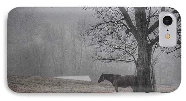 Horse And Tree IPhone Case by Sumoflam Photography