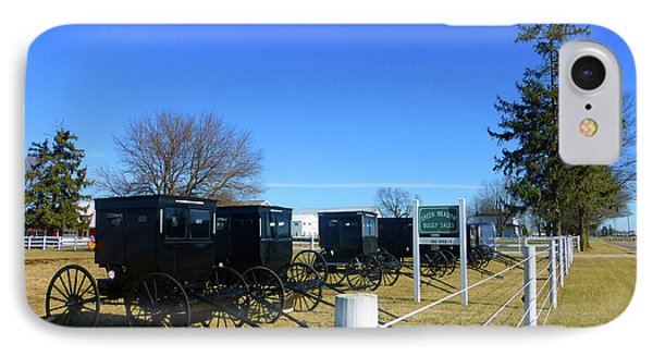 Horse Buggies For Sale IPhone Case by Tina M Wenger