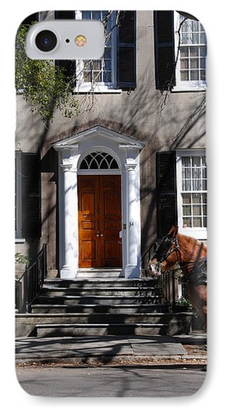 Horse Carriage In Charleston IPhone Case