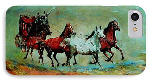 Horse Chariot IPhone Case by Khalid Saeed