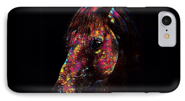 Horse Color Splash Abstract  IPhone Case