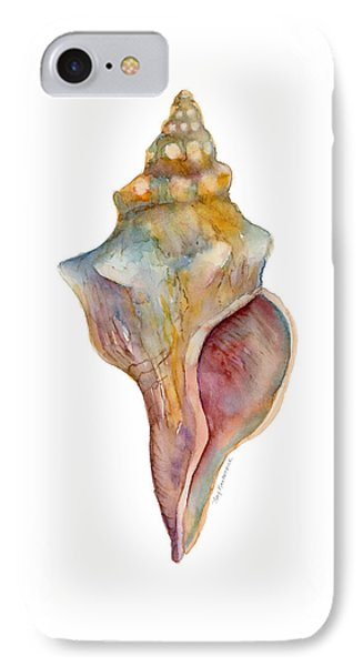 Beach iPhone 7 Case - Horse Conch Shell by Amy Kirkpatrick