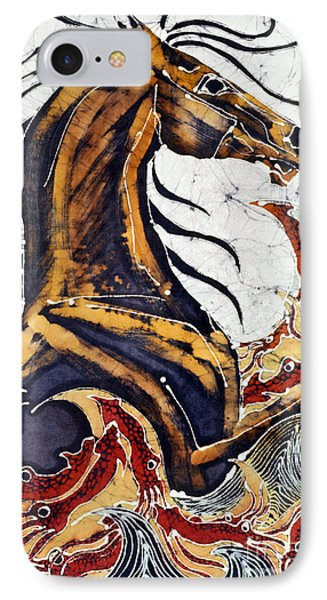 Horse Dances In Sea With Squid Phone Case by Carol Law Conklin