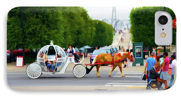 Horse Drawn Carriage And Riders, Nashville, Tn IPhone Case