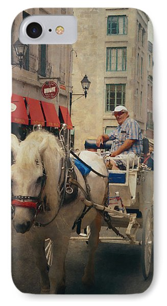 Horse Drawn Carriage - Old Montreal IPhone Case by Maria Angelica Maira