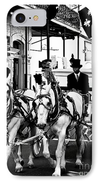 Horse Drawn Funeral Carriage Phone Case by Kathleen K Parker