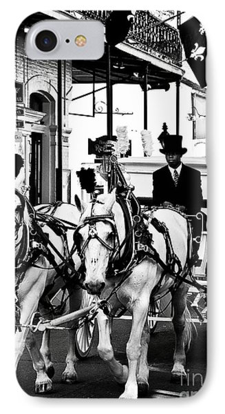 Horse Drawn Funeral Carriage IPhone Case by Kathleen K Parker
