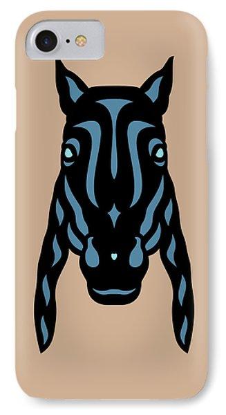 Horse Face Rick - Horse Pop Art - Hazelnut, Niagara Blue, Island Paradise Blue IPhone Case by Manuel Sueess