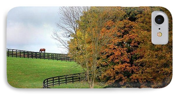 IPhone Case featuring the photograph Horse Farm Country In The Fall by Sumoflam Photography