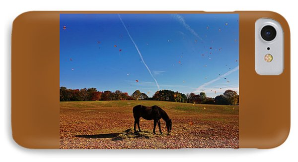 Horse Farm In The Fall IPhone Case by Ed Sweeney