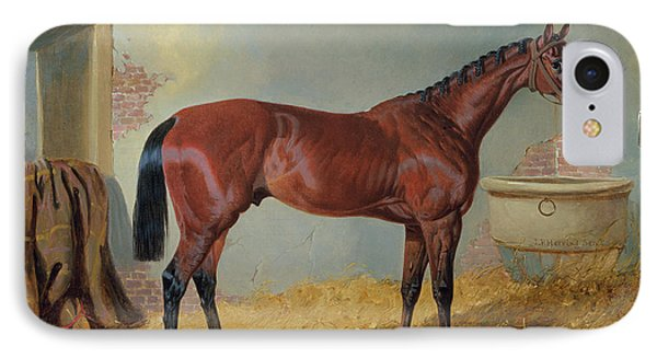 Horse In A Stable IPhone Case by John Frederick Herring Snr