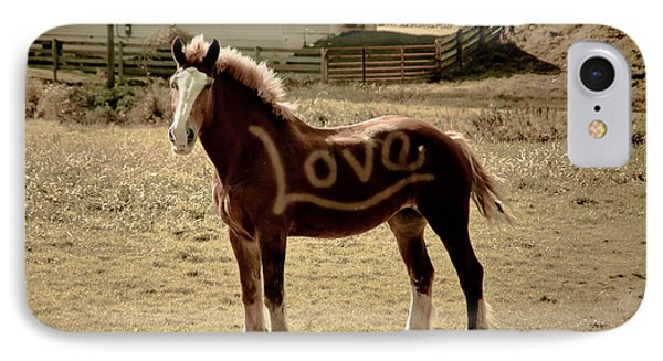 Horse Love IPhone Case by Trish Tritz