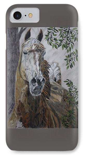 IPhone Case featuring the drawing Horse by Melita Safran