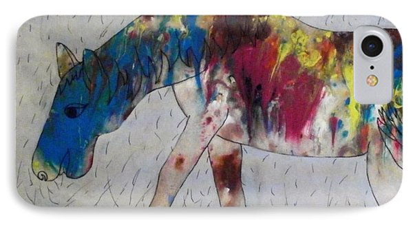 IPhone Case featuring the painting Horse Of A Different Color by Thomasina Durkay