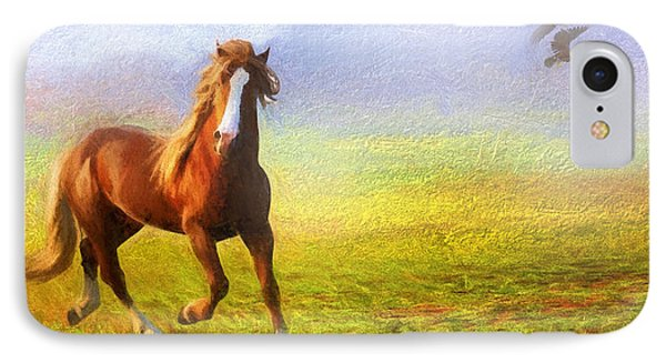 Horse On The Prairie IPhone Case