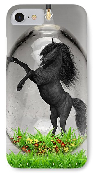 Horse Power Art IPhone Case by Marvin Blaine
