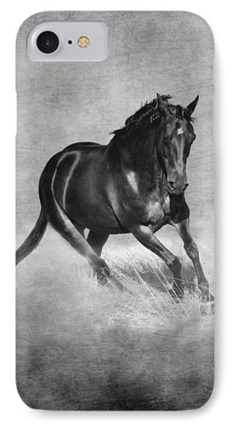 Horse Power Black And White IPhone Case by Michelle Wrighton