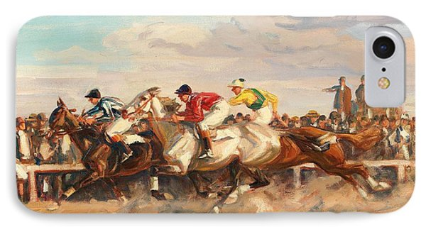Horse Race IPhone Case by Celestial Images