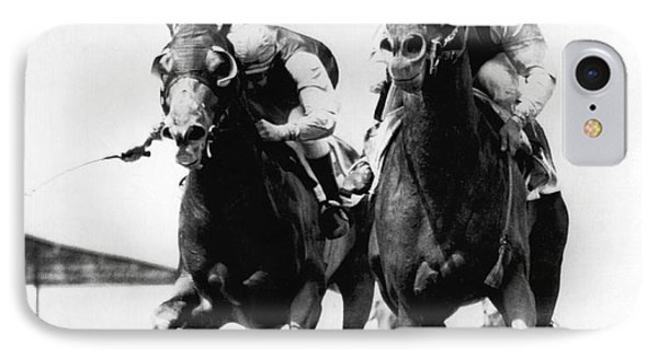 Horse Race At Gulfstream Track IPhone Case by Underwood Archives