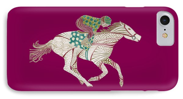 Horse Racer IPhone Case by Amy Kirkpatrick